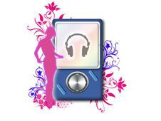 Free Mp3 Player Royalty Free Stock Photos - 13653448