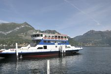Car Ferry At Bellagio On Lake Como Stock Image
