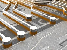 Free Board - Traces - 3D Stock Image - 13654271