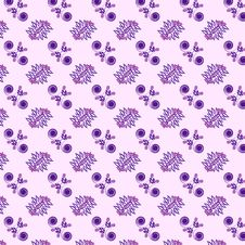 Free Seamless Floral Pattern On Purple Background Royalty Free Stock Image - 13654326