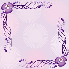 Free Frame Illustration With Flowers In Pink Colors Stock Image - 13654371