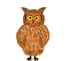 Free Owl Painting Royalty Free Stock Image - 13654746