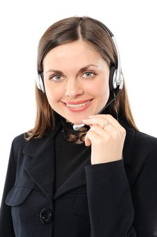 Free Customer Service Representative In Headset. Stock Images - 13654754