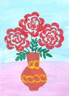 Free Drawn Flowers Royalty Free Stock Photo - 13654875