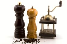 Pepper Mills Royalty Free Stock Image