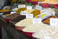 Free Indian Spices And Nuts Stock Photos - 13655923