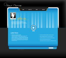 Free Website Template With Photo. Stock Photography - 13656202