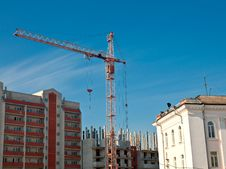 Highrise Construction Site Royalty Free Stock Images