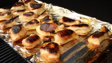 Free Homemade Perogies On BBQ Stock Images - 13657334