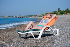 Free The Girl On A Beach Stock Images - 13658124