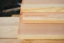 Close-Up Of Cut Lumber Royalty Free Stock Photo