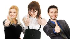 Free Young Business People Showing Thumbs Up Sign Stock Photos - 13658593