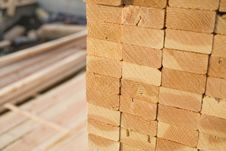 Free Stacks Of Lumber At A Construction Site Royalty Free Stock Photography - 13658777