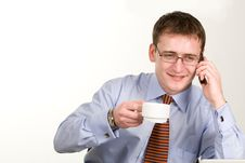 Free Young Businessman With Coffee Cup Royalty Free Stock Photography - 13659197