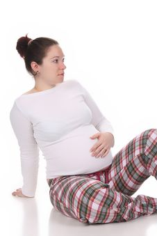 Free Pregnant Woman Holding Belly Stock Photo - 13659290