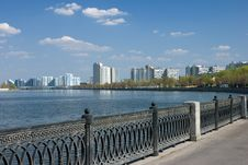 Cityscape With River Stock Photography