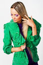 Free Pretty Woman In A Green Jacket Stock Photo - 13661770
