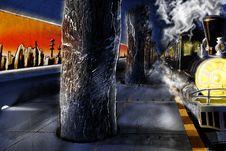 Free Fantasy Train Station Stock Photos - 13660133