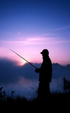Free Fishing In The Early Morning Stock Photo - 13660440