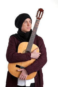 Free Teenager With Guitar Royalty Free Stock Images - 13660579