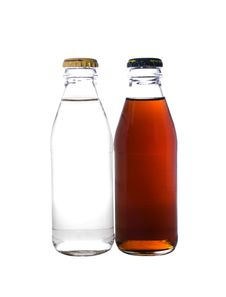 Free Two Glass Bottles Royalty Free Stock Images - 13661129
