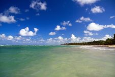 Free Beautiful Panorama Of Deep Blue Sky And Caribbean Stock Images - 13661194
