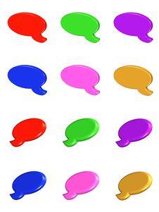 Speech Bubbles 3d Stock Images