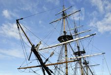 Free Tall Ship Rigging Stock Photography - 13661532