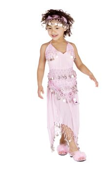 Free Cute Girl In Belly Dancer Dress Royalty Free Stock Images - 13661559