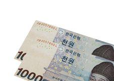 Korean Money Royalty Free Stock Image