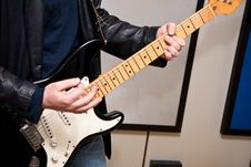 Free Guitar Player Doing A Solo Royalty Free Stock Photography - 13661967