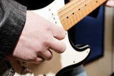 Free Guitar Player Close Up Stock Photo - 13661980