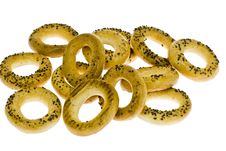 Free Bagel With Poppy Royalty Free Stock Image - 13662086