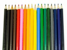 Free Color Pencils Royalty Free Stock Photo - 13662135