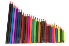 Free Color Pencils Royalty Free Stock Photography - 13662187
