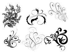 Free Black Leaves Pattern Royalty Free Stock Image - 13662746