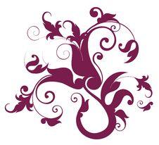 Free Crimson Flower Pattern Royalty Free Stock Images - 13662749