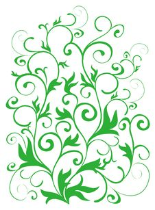 Free Green Vines Pattern Royalty Free Stock Image - 13663126