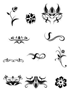 Flower And Plant Pattern Stock Photos