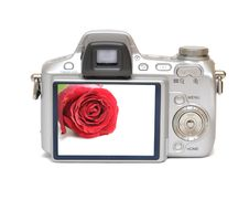 Free Digital Camera (included Path) Royalty Free Stock Photography - 13663837
