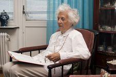 Free Senior Bible Reading Stock Photos - 13663973