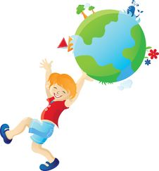 Free Boy And The Earth Stock Image - 13665001