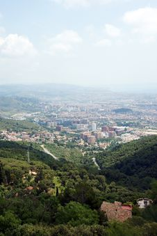 Free Panoramic View, Barselona Royalty Free Stock Photos - 13665118
