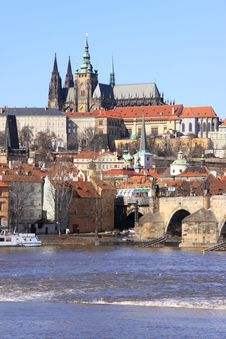 The View On The Prague Gothic Castle Royalty Free Stock Images