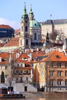 Free The View On Prague St. Nicholas  Cathedral Royalty Free Stock Photo - 13665415