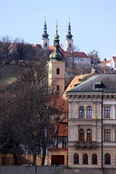 Free View On Prague Towers Stock Images - 13665564