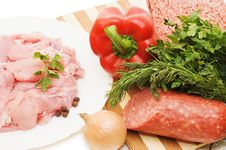 Free Fresh Meat And Different Components Stock Image - 13665831