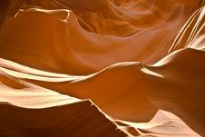Sandstone Formation In Antelope Canyon Stock Photo