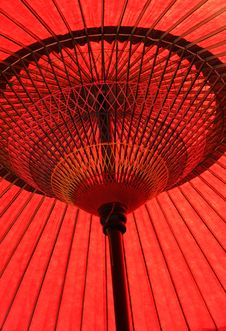Free Red Japanese Umbrella Royalty Free Stock Images - 13666399