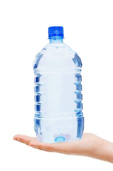 Free Hand With Bottle Of Water Royalty Free Stock Photography - 13666407